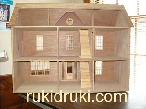Фото домик для кукол своими руками