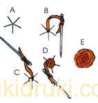 Как сделать розу иголкой