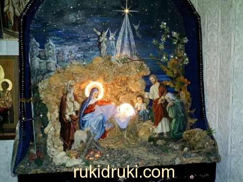 Своими руками вертеп к рождеству