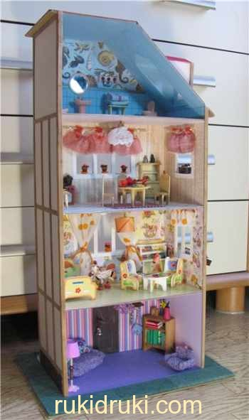 кукольный домик из коробок своими руками