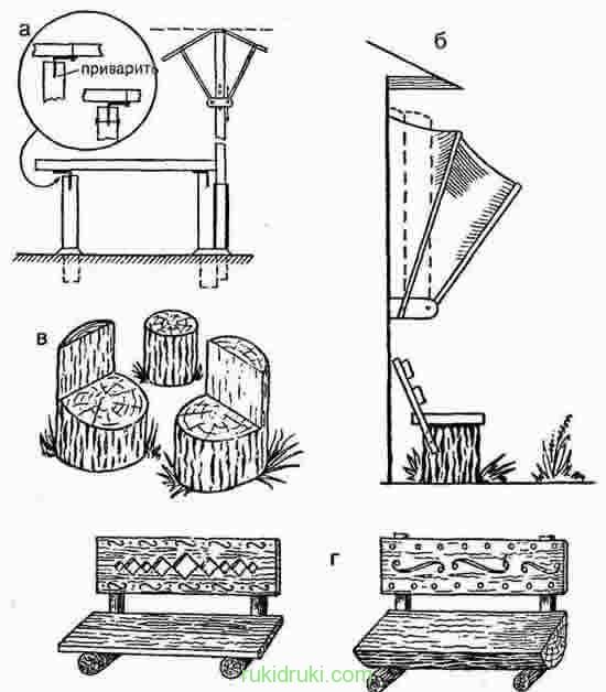 Лавка из бревна своими руками чертежи и размеры схемы 85